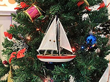 red white and blue sailboat christmas tree ornament 9 nautical ornament be - Red White And Blue Decorated Christmas Tree