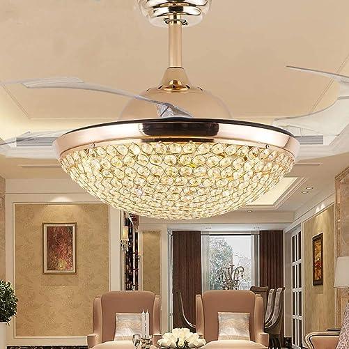 Sweety House 42″Modern Crystal Ceiling Fan Light