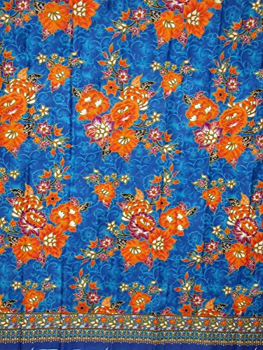 100% cotton Thai Print Sarong Traditional Fabric Wrap Around Skirt Sarong Can Be Use As Sarong Skirt or Other Purposes 72X42 In. (g010)