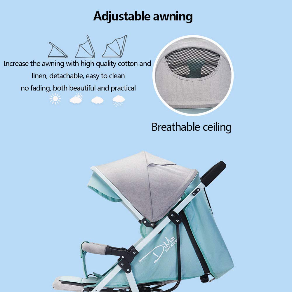 BO LU Double Strollers Double Seats for Twins Foldable Can Sit and Lie with Awning Adjustable Backrest by BO LU (Image #9)