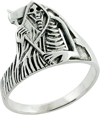 JEWURA Biker Ring Fashion Stainless Steel Jewelry Vintage Flame Skull