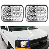 A Pair 7X6' Inch LED Headlight High Low Beam for Chevy Express Cargo Van 1500 2500 3500 - H6014 / H6052 / H6054 / 6054 / H4 / 9003 / HB2 Sealed Beam Super Bright