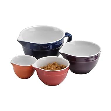 Anchor Hocking 4-Piece Ceramic Prep Bowl Set
