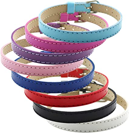 20pcs Mix Colors 210mm8mm Slide Wristbands//Bracelets for 8mm Slide Letters,Jewelry Making Charms-DIY Supplies