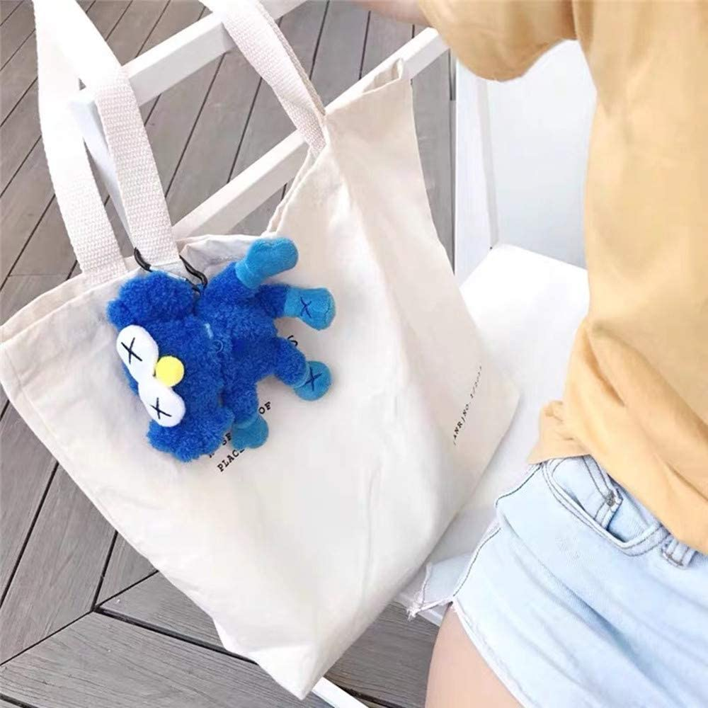 Street Fashion KAWS Protective Case Sesame Street Three-Dimensional Shell for Airpods by Apple Colorful Dolls Cloth with Soft Nap Blue