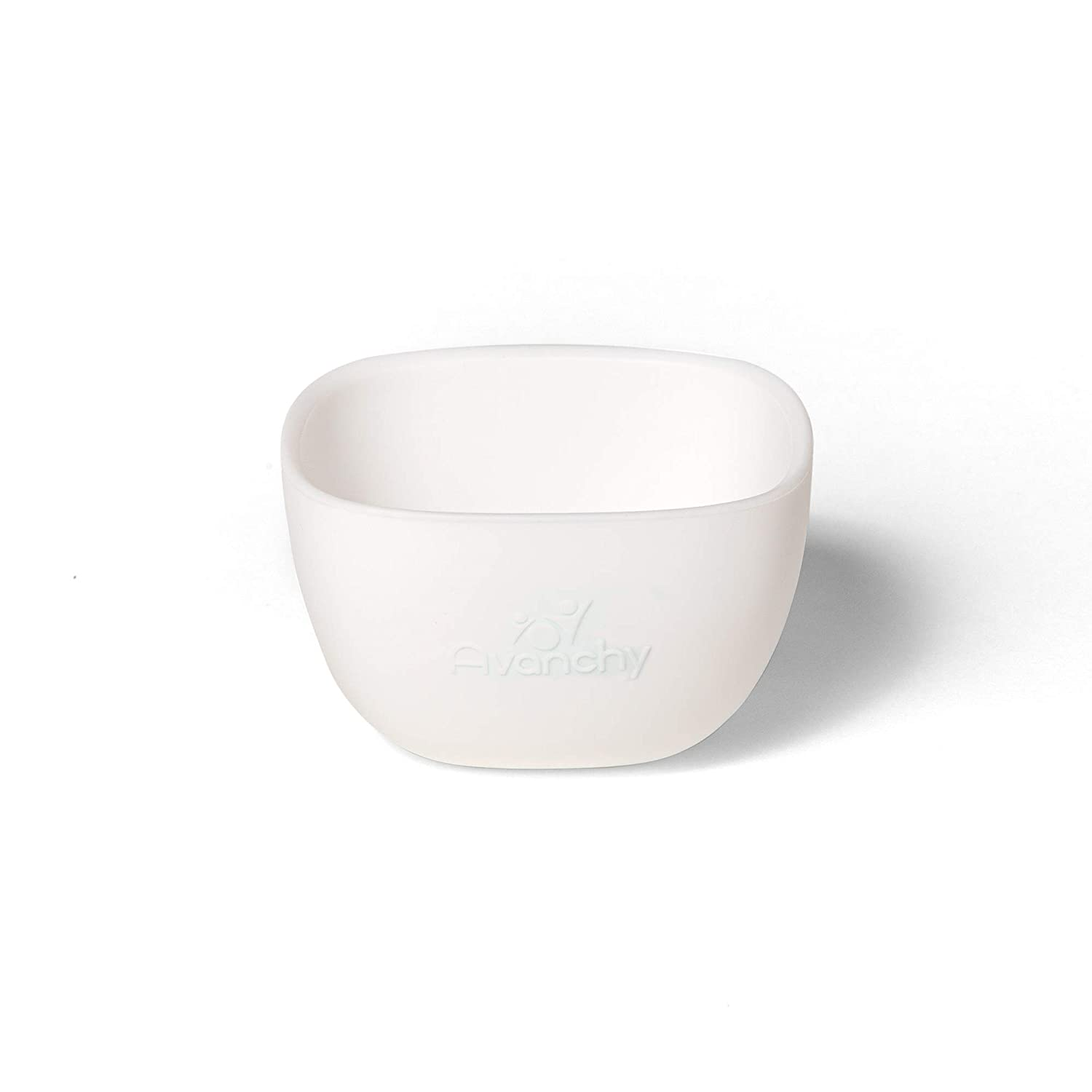 Avanchy Silicone La Petite Mini Silicone Bowl White - Silicone Baby Dishes - Baby Bowl - Silicone Bowl - Baby Dishes Set - Baby Feeding Bowl - Bowls for Toddler