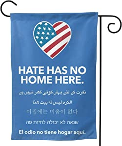 """antfeagor Garden Flag Double Sided 12.5""""x18"""" Inches Polyester Seasonal Flags Hate HAS NO Home HERE for Outdoor Home Yard Summer Decor Garden Flag Banner Decorative Double Sided Yard Flag"""