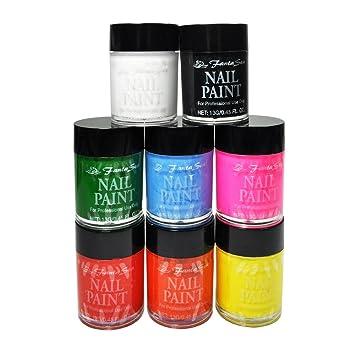 Amazon Fantasea Cosmetics 10 Pcs Acrylic Nail Art Paint Set