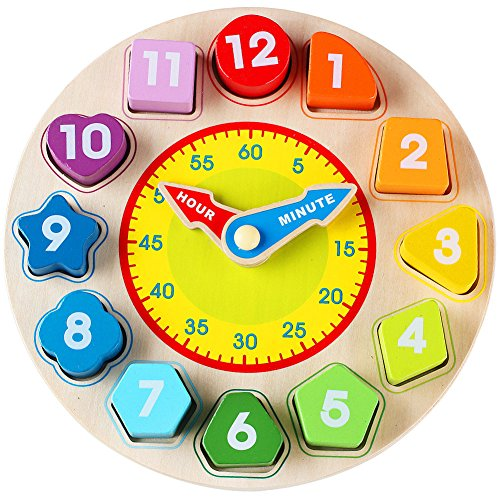 ng Shape Sorting Clock Educational Toys Games for Kids 3 Years Old ()