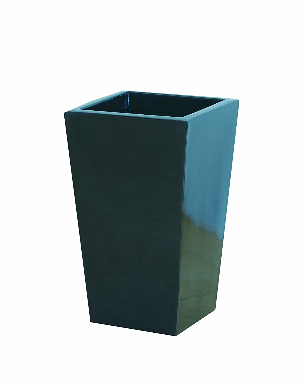 大和プラスチック 鉢カバー&ポット スクエアポットL型 底面穴あき加工済み 350×350×H570 L-35 メタリックグレー B006O2MSOE L-35 メタリックグレー