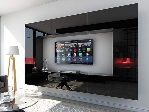 HomeDirectLTD Future 29, Conjunto de Muebles De Salón, Módulo Bajo para TV Y Multimedia, Unidad de Entretenimiento, Mueble TV, Suite a Estrenar (Iluminación RGB LED Opcional) (29_HG_B_1, Mueble): Amazon.es: Hogar