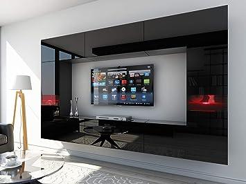 HomeDirectLTD Future 29 Moderne Wohnwand, Exklusive Mediamöbel, TV Schrank,  Schrankwand, TV