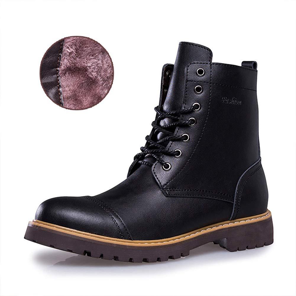 CUYE Herren-Stiefeletten Kurze Stiefel Leichte Schneeschuhe Welted Arbeitsschutzstiefel Motorrad-Schuhe mit Außenstiefeln Winter Warme Stiefel
