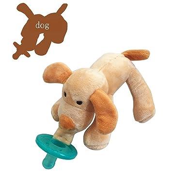 Amazon.com: Fondo Cute Infant bebé Chupetes de silicona con ...