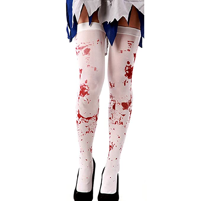 Stockings Ladies Broken Zombie Rag Doll Halloween Fancy Dress Costume MakeUp