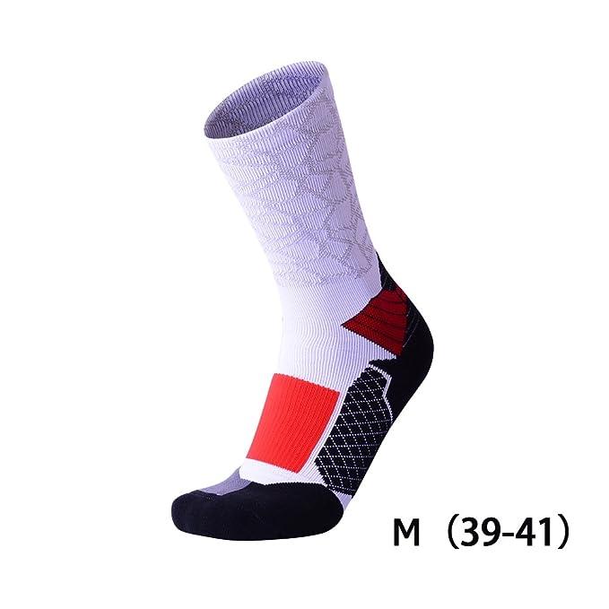 Waroomss Calcetines al Aire Libre del Deporte, Calcetines Profesionales del Baloncesto de la Toalla Antideslizante