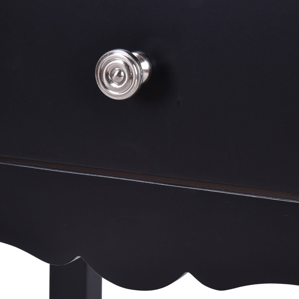 30'' Black Accent Nightstand Side End Table w/ 2Drawer with Ebook by AyaMastro (Image #6)
