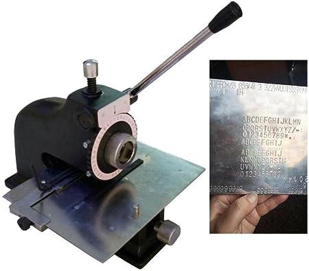 Máquina de grabado manual de metal para grabado en relieve de perros, máquina de marcado de estampación de metal ...