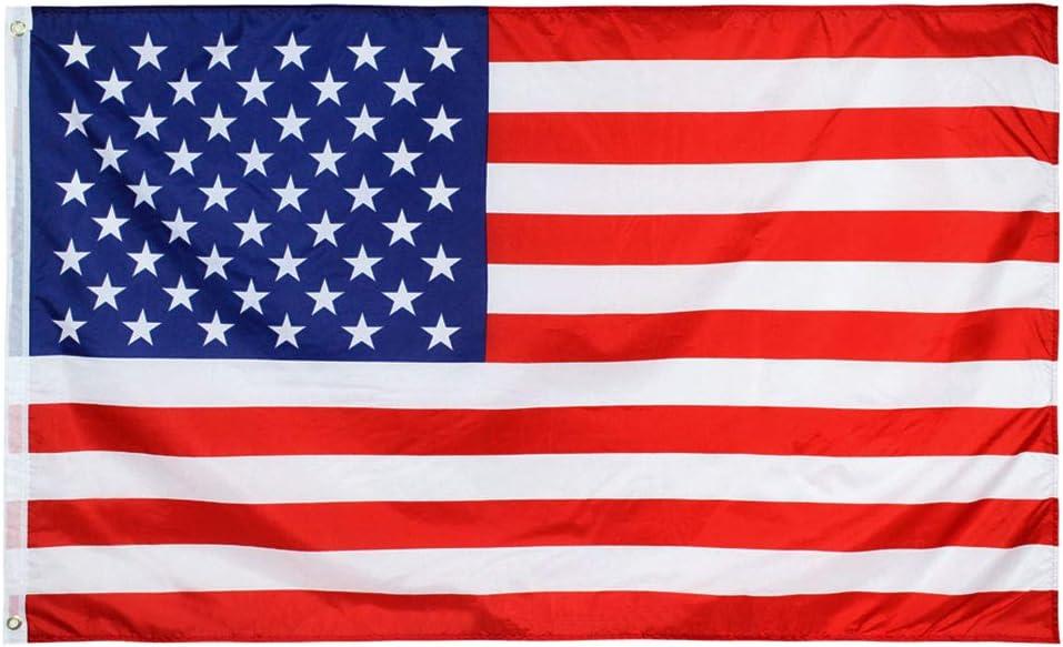 Hellomamma US Flag 3x5 Feet Indoor Outdoor Garden USA Flags American Banner with Brass Grommets