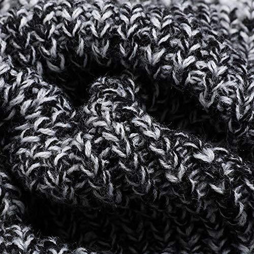 Di A Dimensioni Donna Maglione Mazf Black Cappotto Lungo Lavorato Maglia Grandi wzIz07Bq