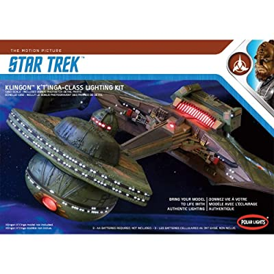 1/350 Polar Lights Klingon K'T'inga Class Lighting Kit: Toys & Games