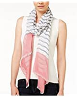 Calvin Klein Women's Pink Border Crepe Wrap Scarf