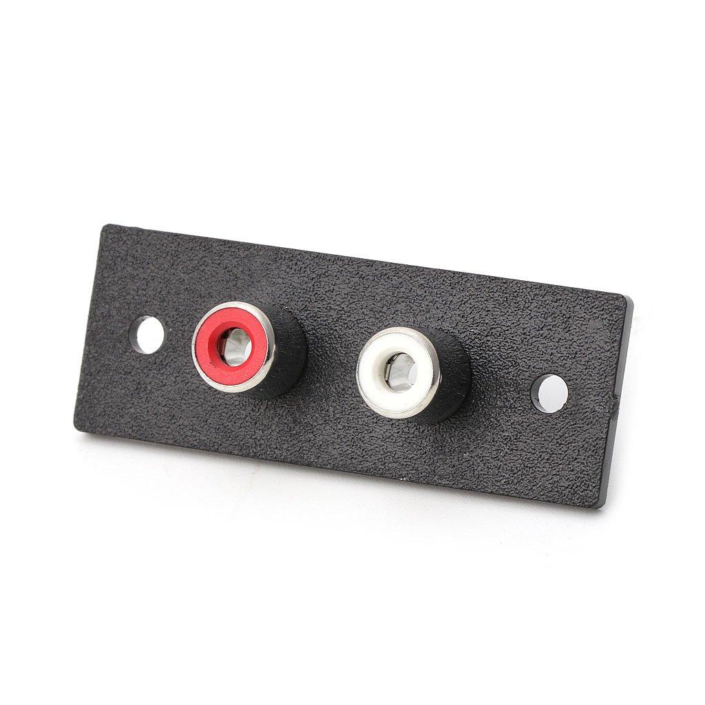 Adaptador de Audio AV para Toma de chasis Phono 1pc YoungerY Entrada de Panel de Pared de Terminal RCA bidireccional
