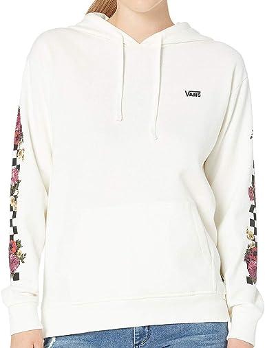 agudo Gran cantidad cuerno  Amazon.com: Vans Brunching VN0A47TGFS8-WHITE-Large - Sudadera con capucha  para mujer, diseño de cuadros, color blanco: Clothing