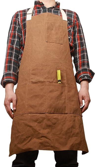 Apron Collector Waxed Canvas Work garden Waterproof Tool Unisex Woodworking