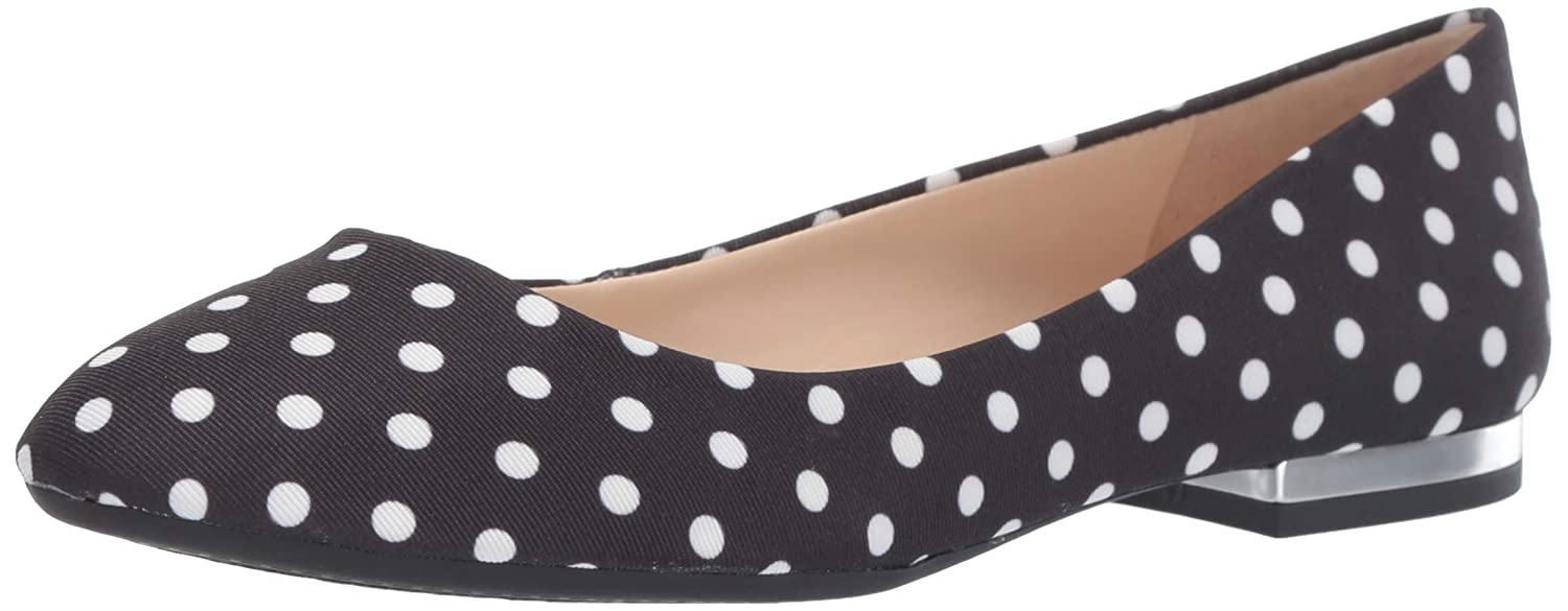 Black White Jessica Simpson Womens Ginly Ballet Flat