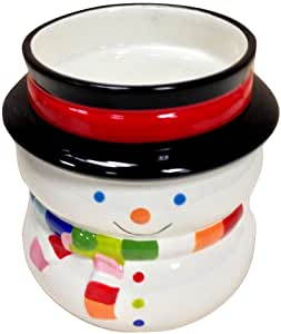 Cute Hand Painted Ceramic Winter Snowman 2-Piece Dip Bowl Set, 80055 by ACK by ACK