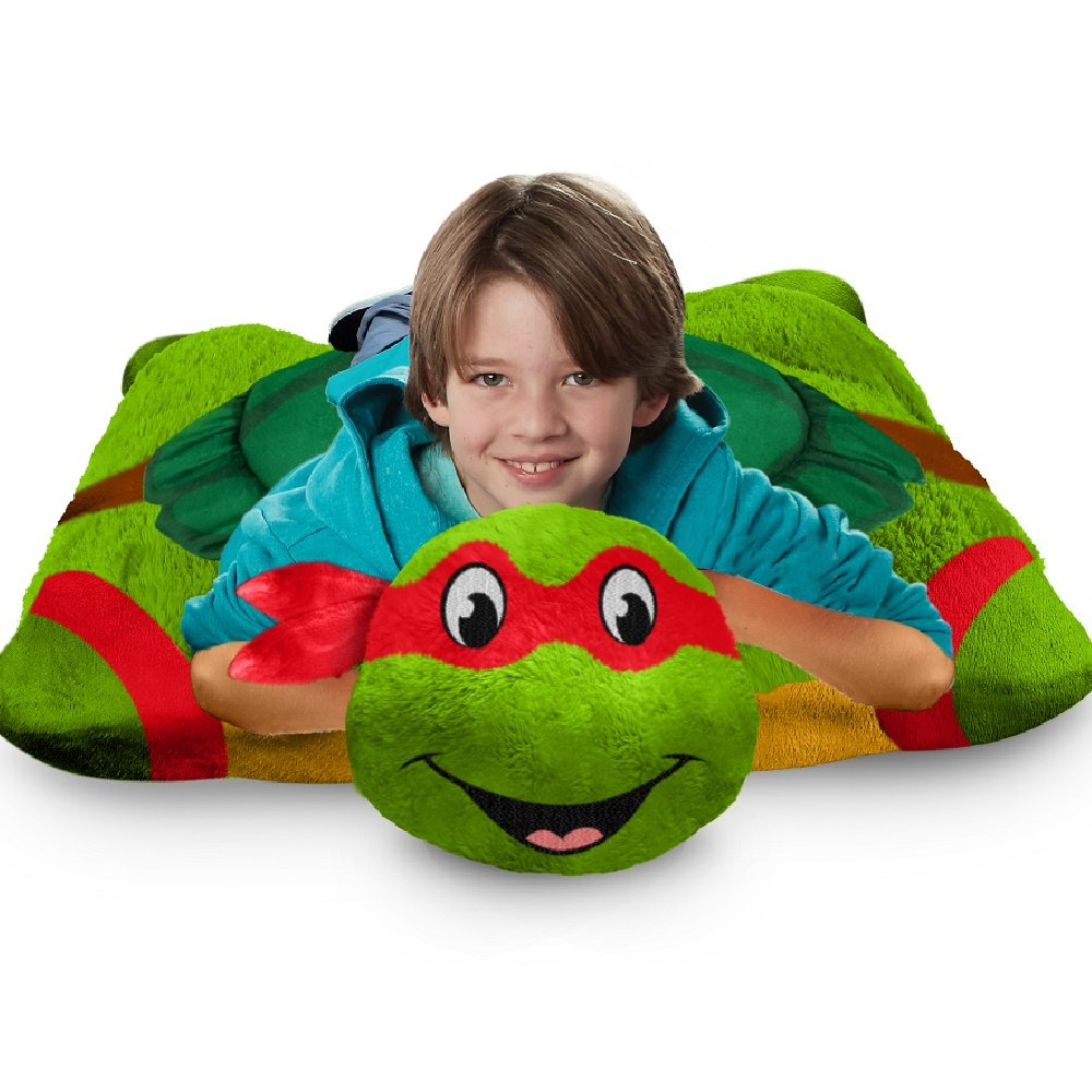 Nickelodeon TMNT Jumboz Pillow Petz Floor Pillow - Raphael 30'' Stuffed Animal Plush Pillow by Pillow Pets