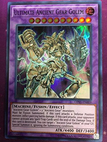 Ancient Gear - Yugioh Ultimate Ancient Gear Golem OP05-EN009 Super Roar Unlimited Edition OTS Tournament Pack 5 Cards