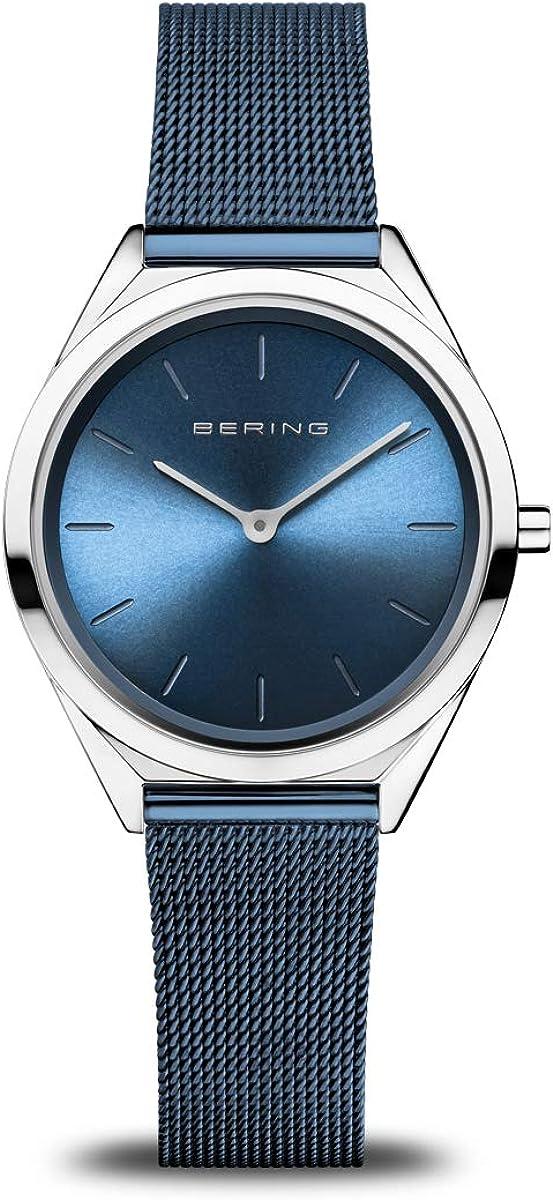 BERING Reloj Analógico para Unisex de Cuarzo con Correa en Acero Inoxidable 17031-307