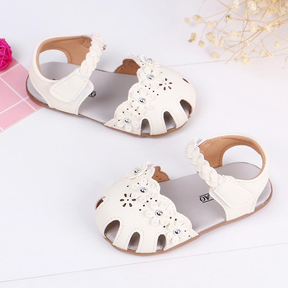 Paolian B/éb/é Fille Sandales Plates /Ét/é Creux Fleur Romain Chaussures de Plage pour 0-6 Ans