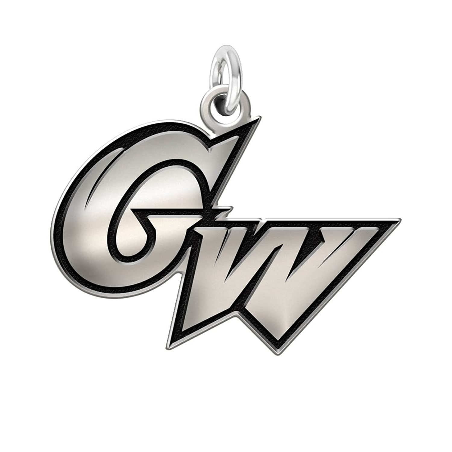 Home college tulane green wave tulane green wave silver plated - Amazon Com George Washington Colonials 1 2 Sterling Silver Cut Out Logo Charm Jewelry