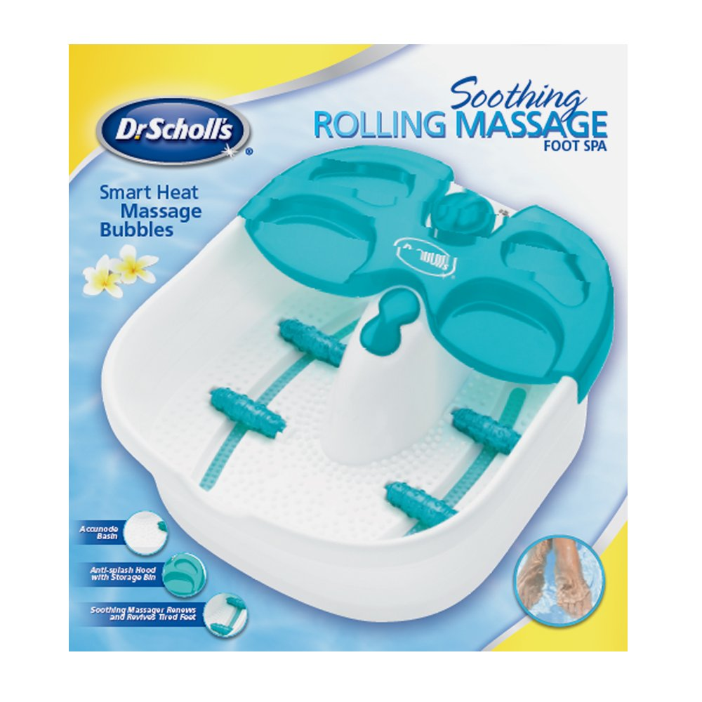 Amazon.com: Dr. Scholls Soothing Rolling Massage Foot Spa: Health ...
