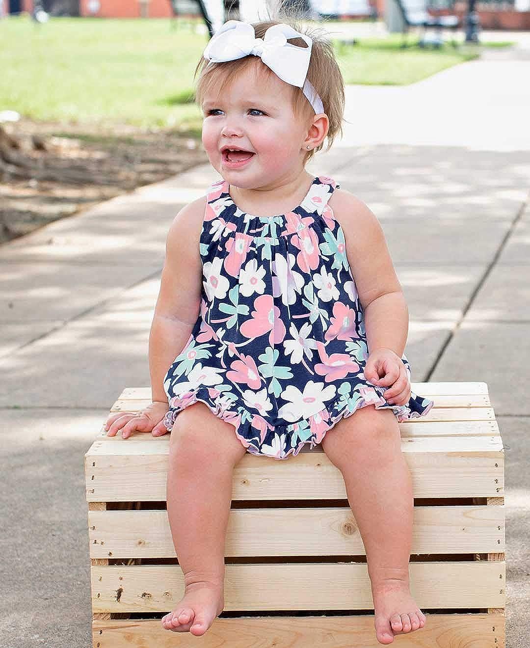 2b5daefa Amazon.com: RuffleButts Baby/Toddler Girls Knit Open-Back Ruffle Swing Top:  Clothing