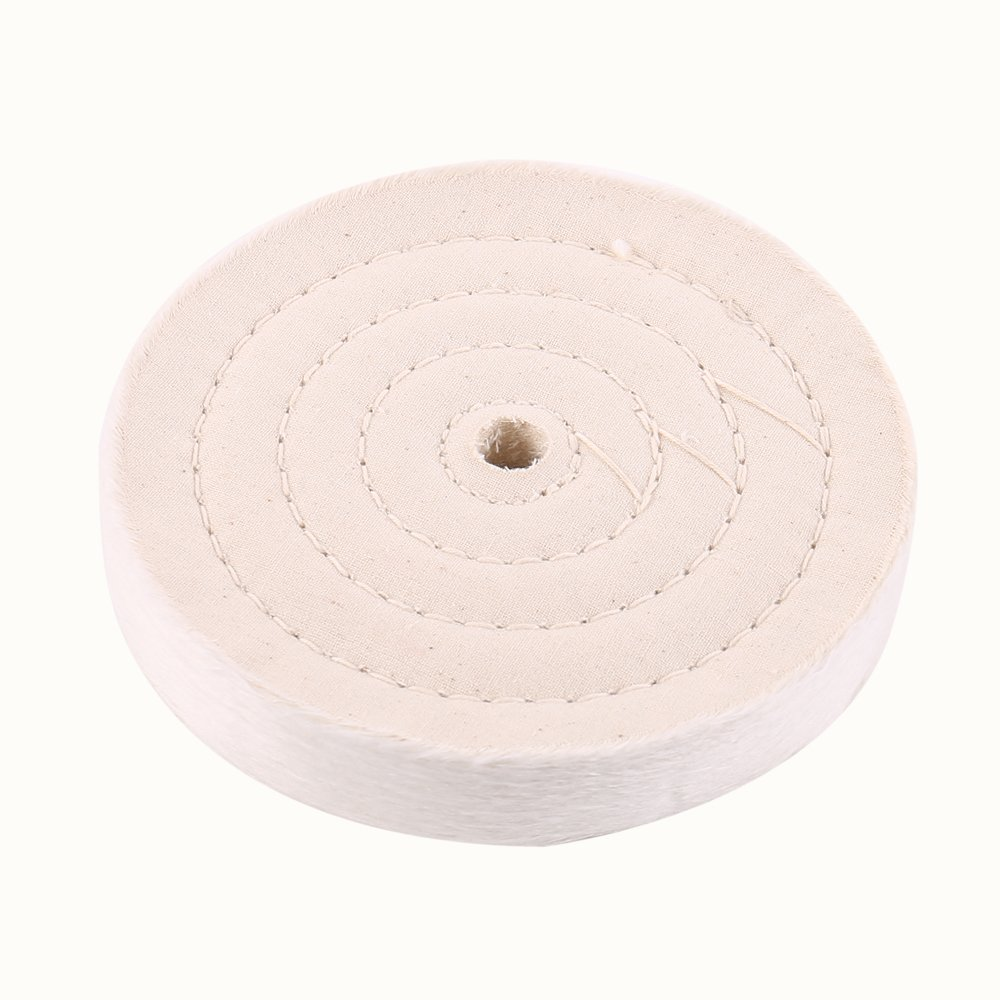 SCOTTCHEN Buffing Polishing Wheel 6 inch (70 Ply) Cotton Polish Pad For Bench grinder Buffer Polisher Tool With 1/2'' Arbor Hole 2 PACK by SCOTTCHEN (Image #5)