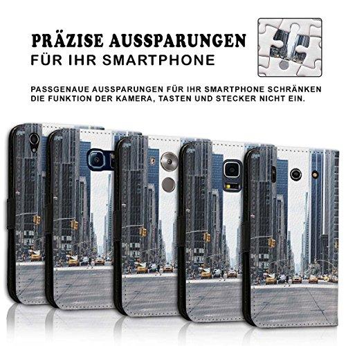 Wallet Book Style Flip Handy Tasche Case Schutz Hülle Schale Motiv Etui für Apple iPhone 4 / 4S - Design Flip MV181