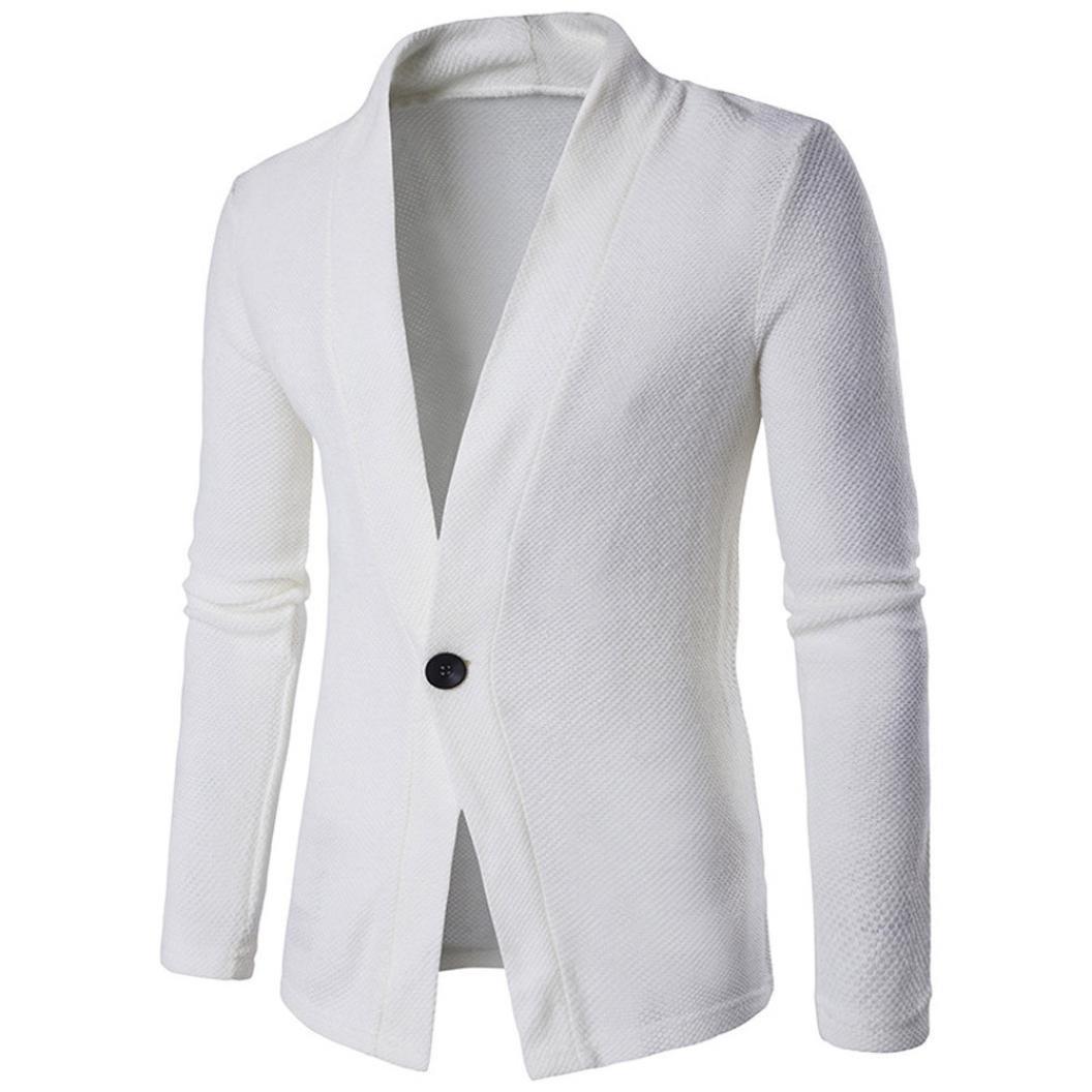 VENMO M/änner Slim Fit Langarm Solid Trenchcoat Knitting Bluse Tops Outwear Herren Strickjacke Open Jacke Lang Cardigan Knit Mantel Strick Jacke Hoodie Hoody Sweatshirt Sweatblazer