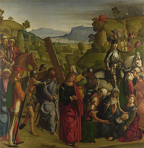 Oil Painting 'Boccaccio Boccaccino Christ Carrying The Cross And The Virgin Mary Swooning ' Printing On High Quality Polyster Canvas , 24 X 25 Inch / 61 X 62 Cm ,the Best Powder Room Decor And Home Decoration And Gifts Is This Reproductions Art Decorative Canvas Prints