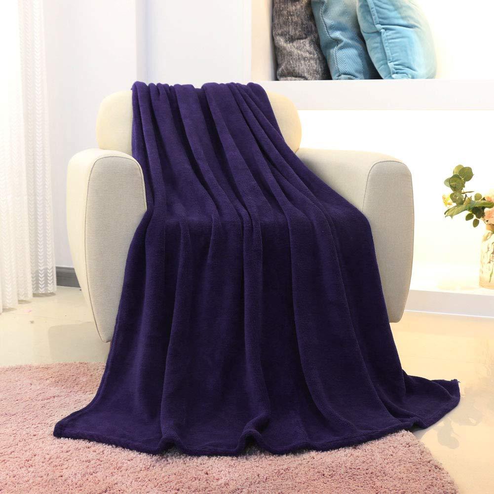 FY FIBER HOUSE Luxury Extra Soft Fleece Plush Blankets,50 by 60-Inch,Purple
