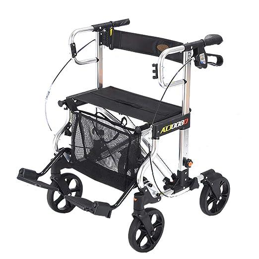 Walk Aid Carro de la Compra, Andador Plegable con Asiento y ...
