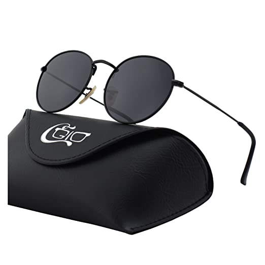 Cgid E01 Retro Vintage Style John Lennon Inspired Round Metal Circle Polarized Sunglasses With Gift Package by Cgid