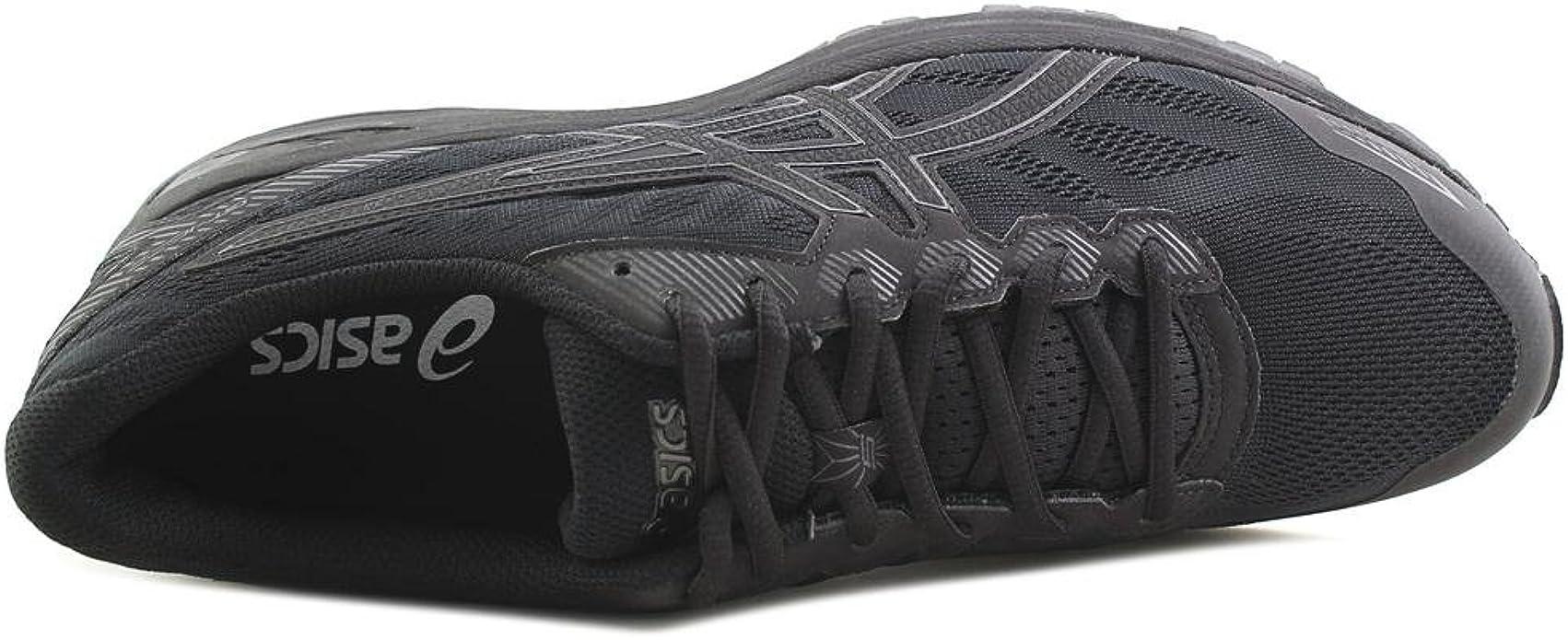 ASICS Mens Performance Gel-Ziruss Running Shoe - T7J1N.9090 (Black/Black/Silver - 11): Amazon.es: Zapatos y complementos