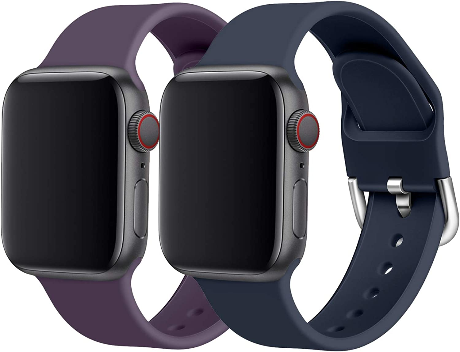 Seltureone Compatible with Apple Watch Band 38mm 40mm for Women Men,Soft Silicone Thin Narrow Replacement Slim Bands for iWatch Series 5/4/3/2/1