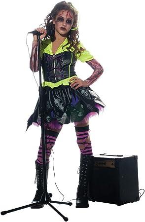 Niña Zombie Disfraz Punk Rocker # 3: Amazon.es: Juguetes y juegos