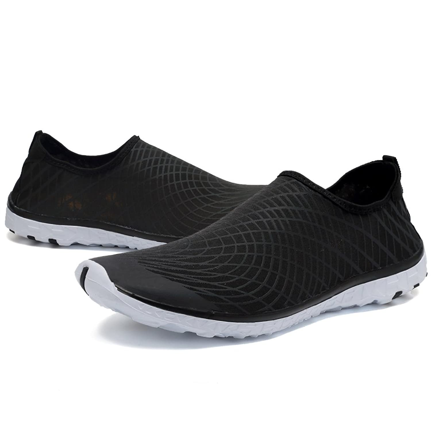 CIOR FANTINY Water Shoes Lightweight Barefoot Quick-Dry Slip-On For Women and Men Walking Sneakers,VSL01,Black,42