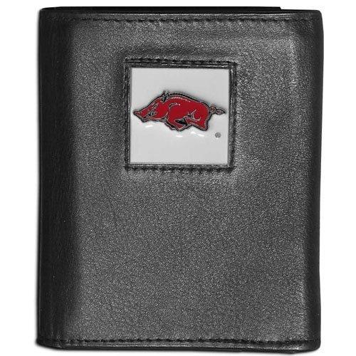 Arkansas Razorbacks Card Credit - NCAA Arkansas Razorbacks Leather Tri-Fold Wallet